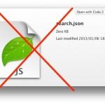 勝手にダウンロードされるsearch.jsonを自動で削除するフォルダアクションを作ってみた