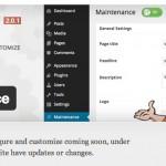 Maintenance – クールでシンプルなUIがいい感じのWordpressプラグイン